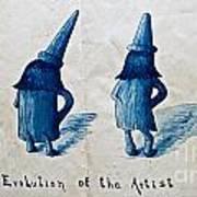 The Evolution Of The Artist Art Print