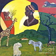 The Faces Of Africa Art Print