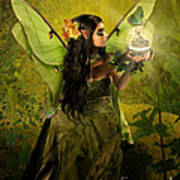 The Fairy Of Clairvoyant Art Print