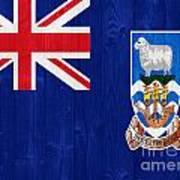 The Falkland Islands Flag Art Print