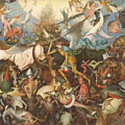 The Fall Of The Rebel Angels, 1562 Oil On Panel Art Print