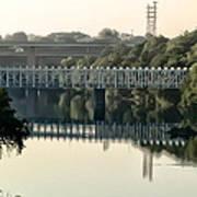The Falls Bridge Over The Schuylkill River Art Print