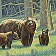 The Family - Black Bears Art Print