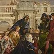The Family Of Darius Before Alexander Art Print