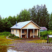 The Famous Cabin Of Fannie Quigley Art Print