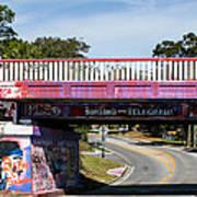 The Famous Graffiti Bridge Art Print