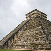 The Famous Kulkulcan Pyramid At Chichen Itza Art Print