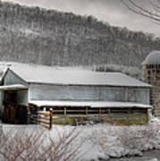 The Farm By The Creek Art Print