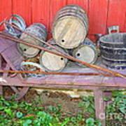 The Farmer's Old Wheelbarrow Art Print