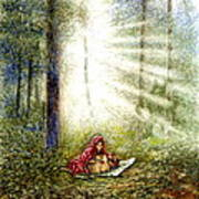 The Fate Of Little Red Riding Hood Part One Art Print