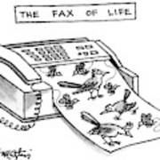 The Fax Of Life Art Print
