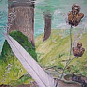 The Feather And The Word La Pluma Y La Palabra Art Print