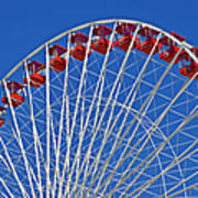The Ferris Wheel Chicago Print by Christine Till