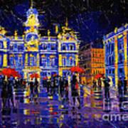 The Festival Of Lights In Lyon France Art Print