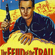 The Feud Of The Trail, Us Poster, Tom Art Print