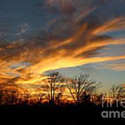The Fiery Sky Art Print