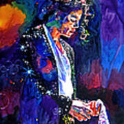 The Final Performance - Michael Jackson Art Print by David Lloyd Glover