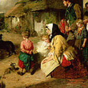 The First Break In The Family Art Print by Thomas Faed