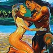 The First Kiss Print by Karon Melillo DeVega