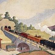 The First Paris To Rouen Railway, Copy Art Print by French School