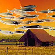 The Fish Farm 5d24404 Square Art Print