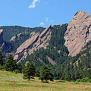 The Flatirons Art Print by Bob Hislop