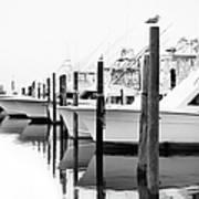 The Fleet Awaits - Outer Banks Art Print
