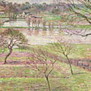 The Flood At Eragny Art Print