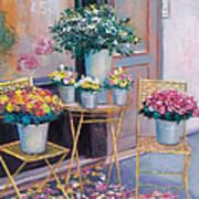 The Flower Shop Paris Art Print