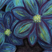 The Flowers Are Blue Art Print