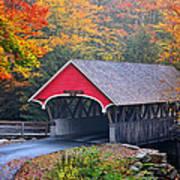 The Flume Covered Bridge Art Print