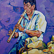 The Flute Player Art Print
