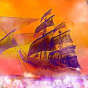 The Flying Dutchman Ghost Ship Art Print