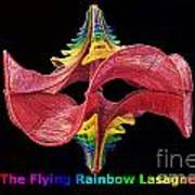 The Flying Rainbow Lasagne Art Print by Nofirstname Aurora