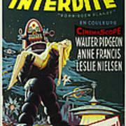 The Forbidden Planet Vintage Movie Poster Art Print