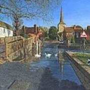 The Ford At Eynsford Kent Art Print