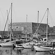 The Fortress And The Port In Iraklio City Art Print