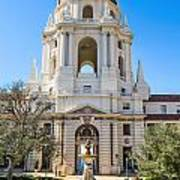 The Fountain - The Beautiful Pasadena City Hall. Art Print