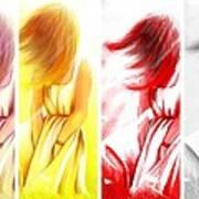 The Four Seasons Of Summer Art Print