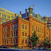 The Franklin School - Washington Dc Art Print by Mountain Dreams