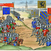 The French Defeat The Flemish Art Print