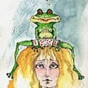 The Frog And The Princess Art Print