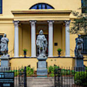 The Front Of The Telfair Museum Of Art Art Print