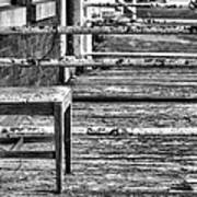 The Front Porch Bw Art Print by JC Findley
