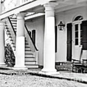 The Front Porch - Bw Art Print