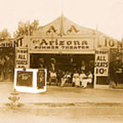 The Gamblers 1914 Lubin The Arizona Summer Theater Tent Tucson Arizona 1914-2008 Art Print