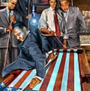 The Game Changers And Table Runners Art Print by Reggie Duffie
