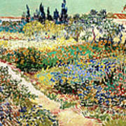 The Garden At Arles, 1888 Art Print