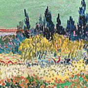 The Garden At Arles, Detail Art Print