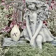 The Garden Fairy Print by Peggy Hughes